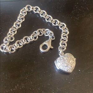 Jewelry - Sterling silver bracelet with heart locket
